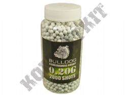 2000 x 6mm x 20g White Biodegradable Polished Airsoft Pellets in Tub Bulldog